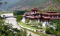 The town of Punakha in Bhutan.