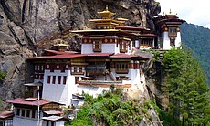 Paro Taktsang, also known as the Tiger's Nest, ...