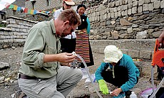 Geologists in Tibet.