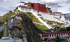 The Potala Palace in Lhasa, Tibet, China was th...