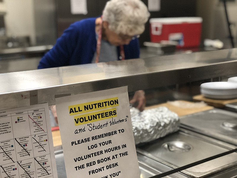 Jennie Bennett volunteers in the kitchen at the San Marcos Senior Activity Ce...