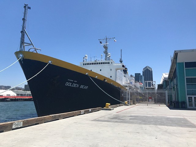 The T.S. Golden Bear docked in San Diego,  June 26, 2018.