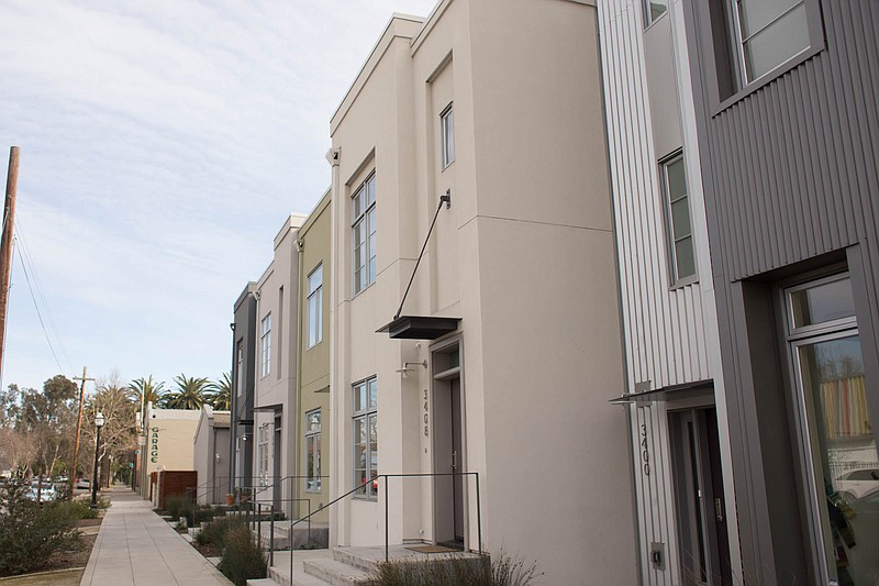 Condos line a street in Sacramento in this undated photo.