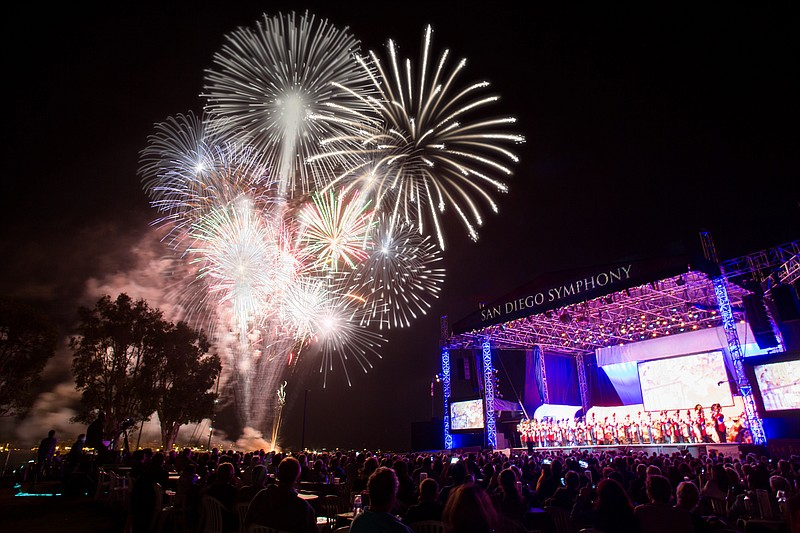 A 2017 photo from San Diego Symphony's Bayside Summer Nights.