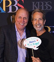 Producers Club member Stanley Paul Cook with creator, producer and host Ken Kramer.