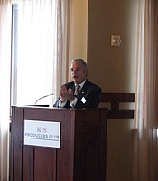 KPBS General Manager Tom Karlo giving opening remarks at The Lodge at Torrey Pines.