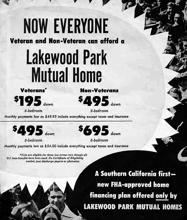 A flier shows Lakewood's prices in 1952.