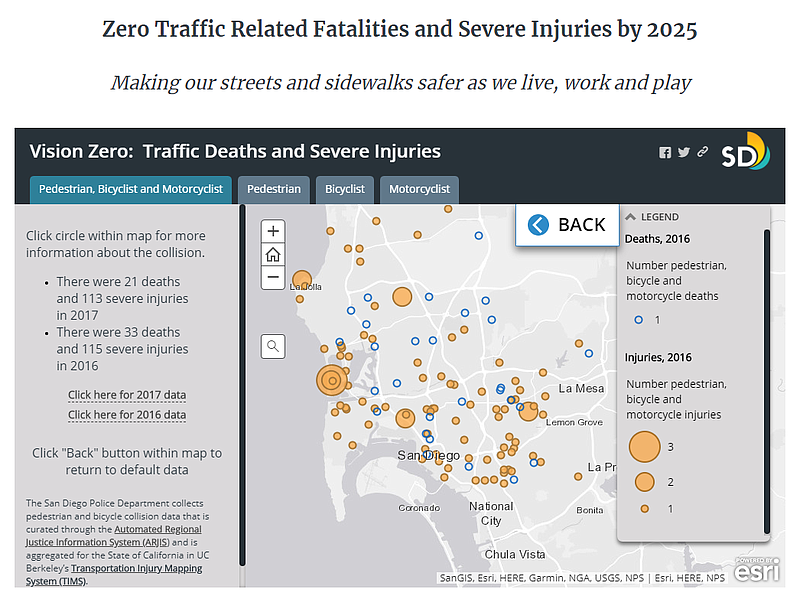 San Diego Mixes Up Traffic Death Data On New Vision Zero Webpage Kpbs