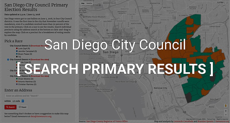 9d15c41dba3d6a Update  Maps Of Final Primary Election Results In 2018 San Diego ...