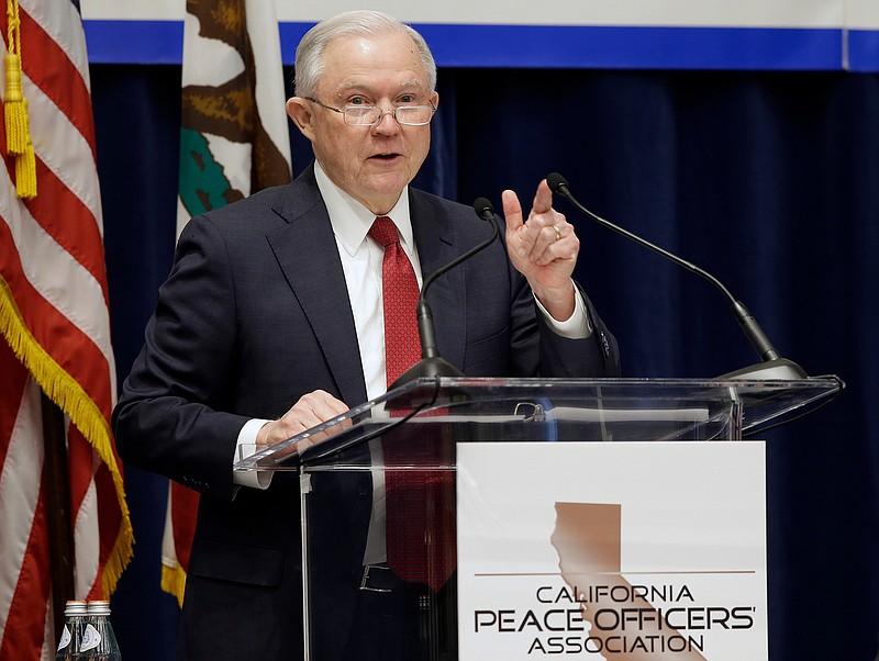 U.S. Attorney General Jeff Sessions addresses the California Peace Officers' ...
