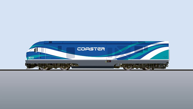 Rendering of what the new locomotive may look like. The design is subject to ...