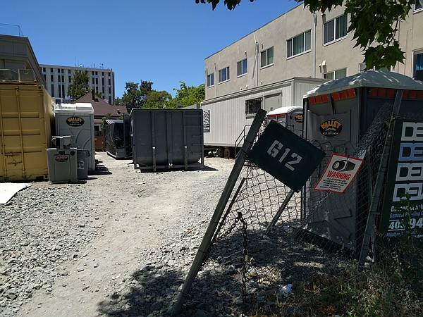 A vacant lot Habitat for Humanity plans to build a six-st...