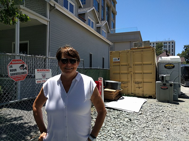 Maureen Sedonaen, CEO of Habitat for Humanity Greater San Francisco, stands i...