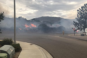 West Fire Contained As Supervisors Extend Emergency Decla...