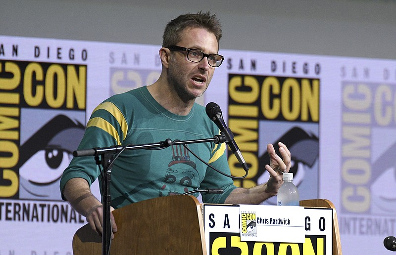 In this July 21, 2017 file photo, Chris Hardwick moderates the