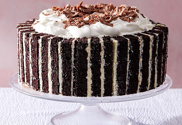 A triple chocolate ice cream cake.