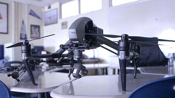 One of the drones that will be used in Vista High's aviat...