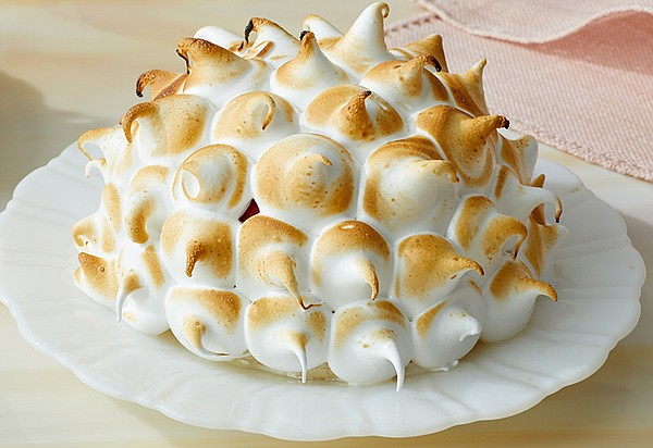 Almond dacquoise bombes