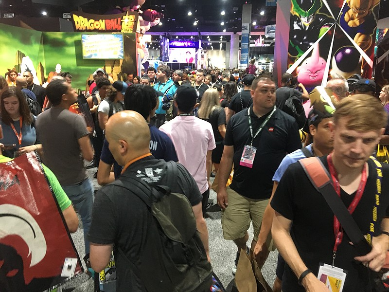 San Diego Comic-Con attendees enjoy Preview Night, July 18, 2018.