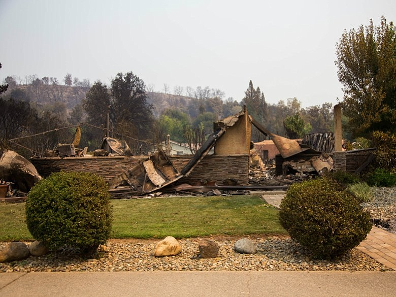 A Home Destroyed By The Carr Fire In Redding Calif Is Pictured This