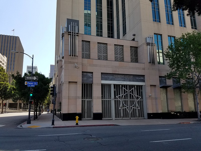 The San Diego Central Jail on Front Street, August 7, 2018.
