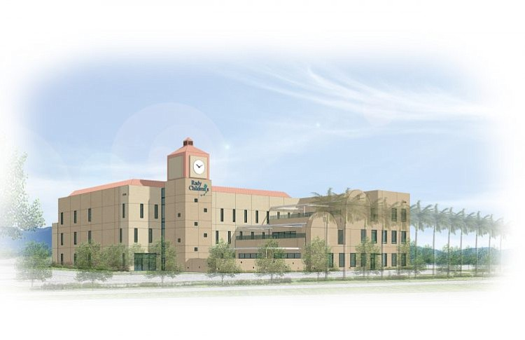 This rendering of Rady Children's Medical Plaza in Murrieta shows the three-s...