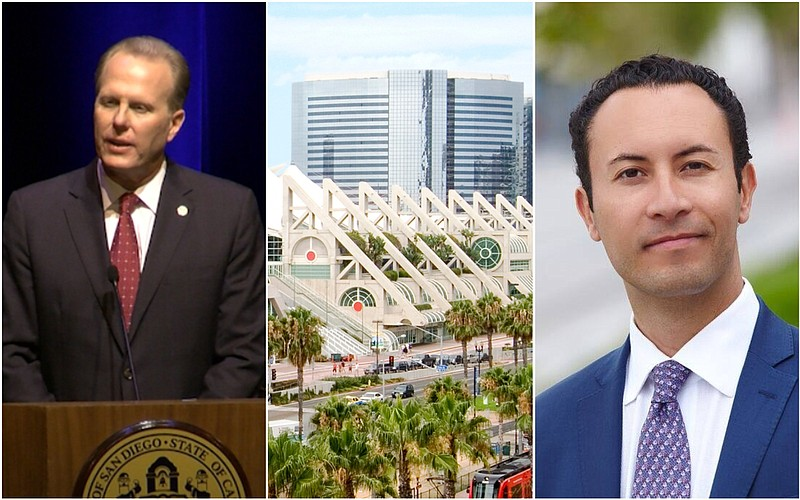 San Diego Mayor Kevin Faulconer, the San Diego Convention Center and Port of ...