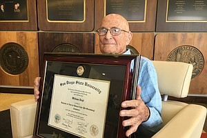Oldest Known SDSU Alum Receives Diploma At 105