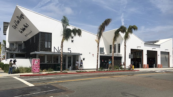 The exterior of the San Diego Fire-Rescue Department's Fi...
