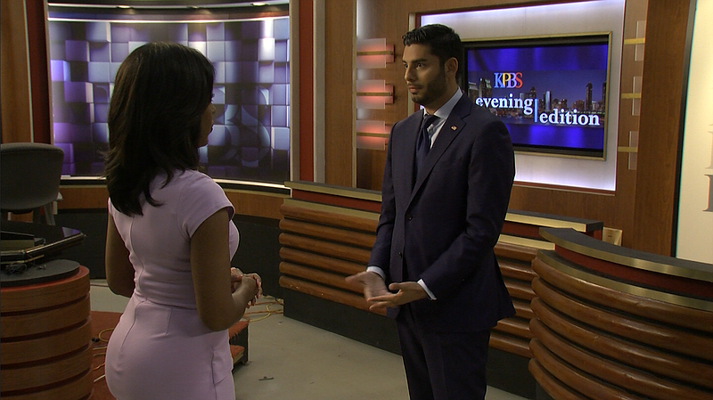 Ammar Campa Najjar interviewing with KPBS' Jade Hindmon on August 22, 2018