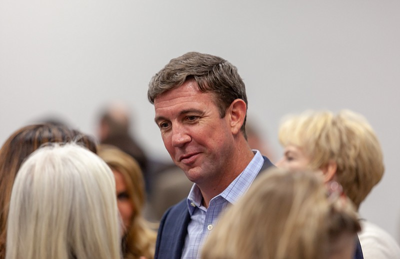 Rep. Duncan Hunter is shown at a San Diego County Republican Party meeting on...