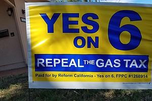 Photo for Supporters Of Gas Tax Repeal Effort Allege Caltrans Broke Law By Campaigning