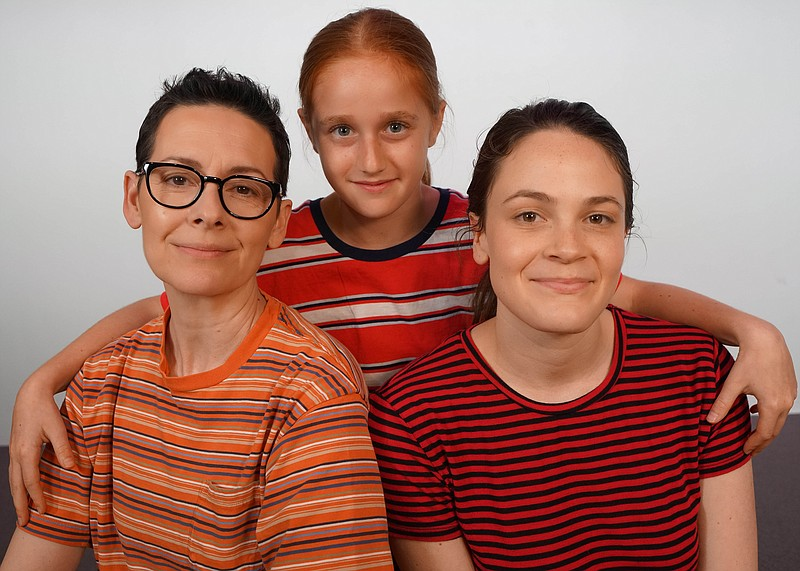 From left: Actresses Amanda Naughton, Taylor Coleman, Claire Adams, who play ...
