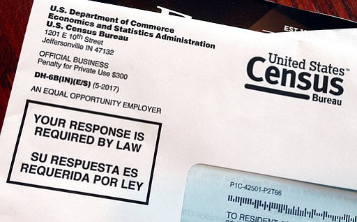 An envelope containing a 2018 census letter mailed to a resident in Providenc...