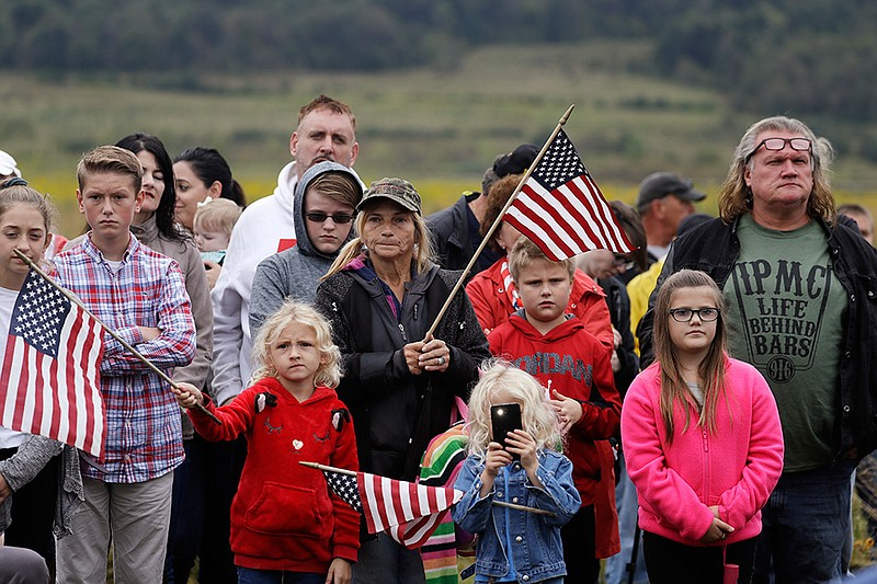 Audience members attend the September 11th Flight 93 Memorial Service, Tuesda...