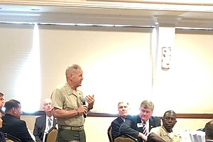 Photo for Head Marine Faces Questions About The Impact Of Deployments On Families
