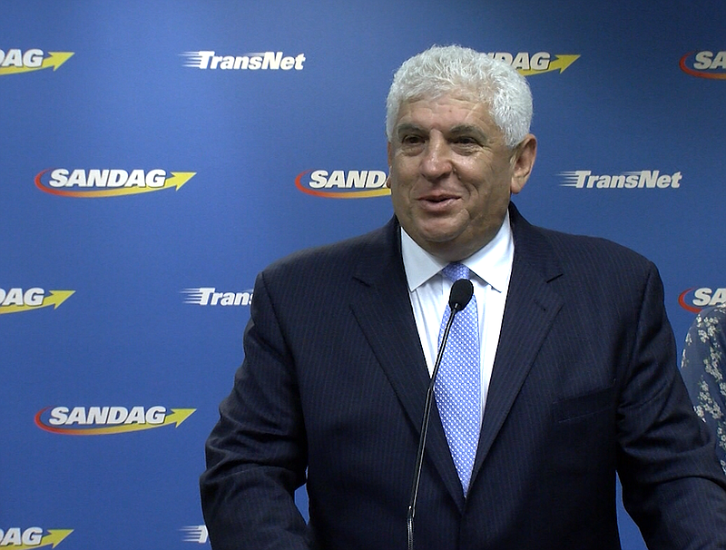 Hasan Ikhrata, incoming executive director of SANDAG, speaks during a press c...