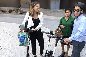 Electric Scooter Company Uses Technology To Go After Dang...