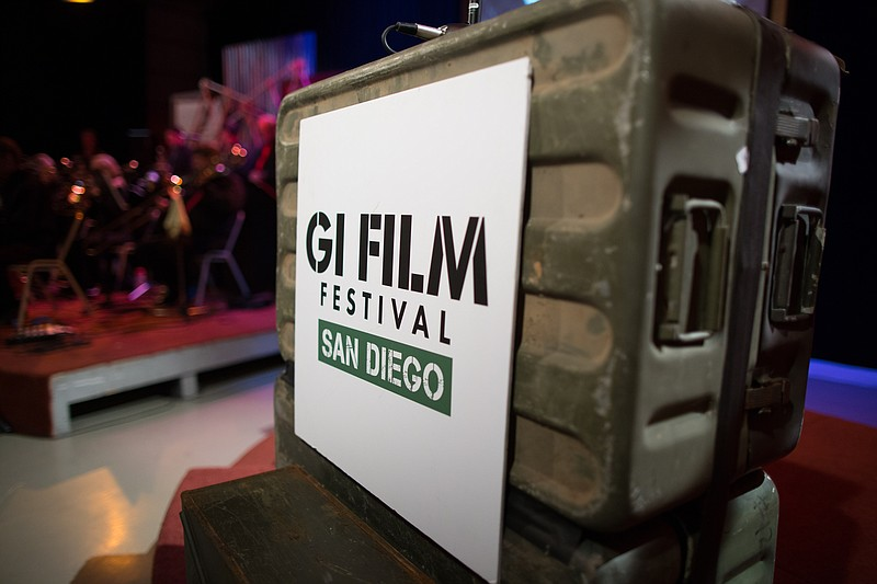 A GI Film Festival San Diego sign is pictured at the 2017 festival.