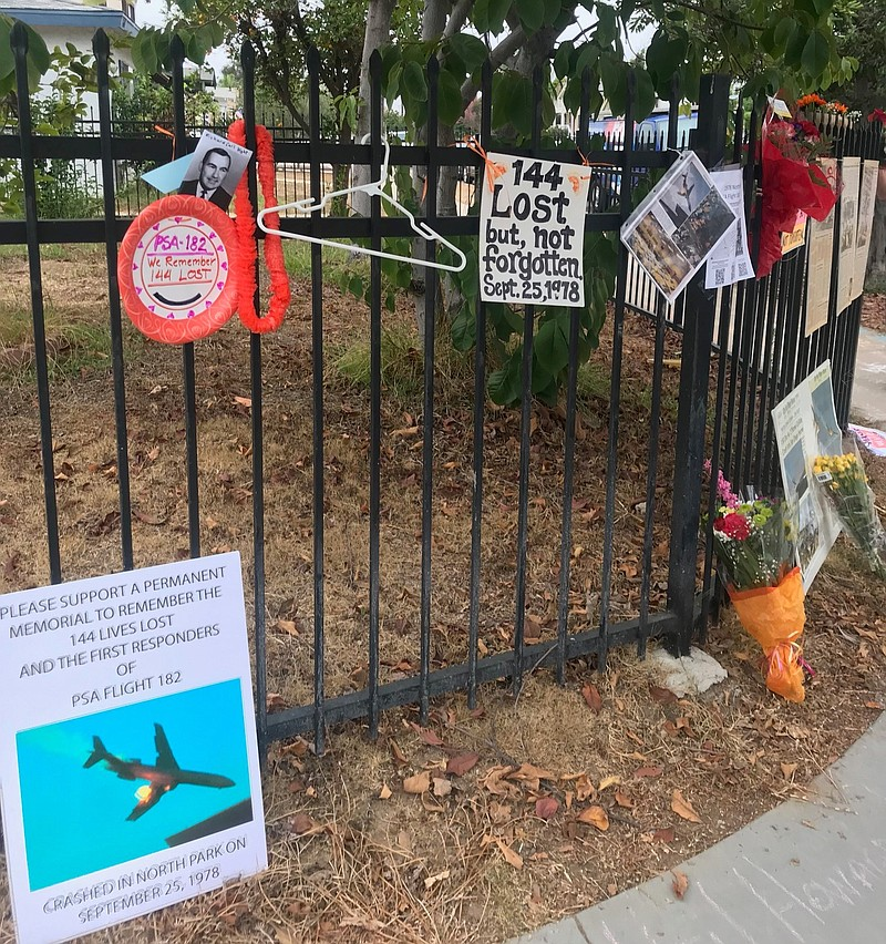 A memorial for the 40th anniversary of the crash of Pacific Southwest Airline...