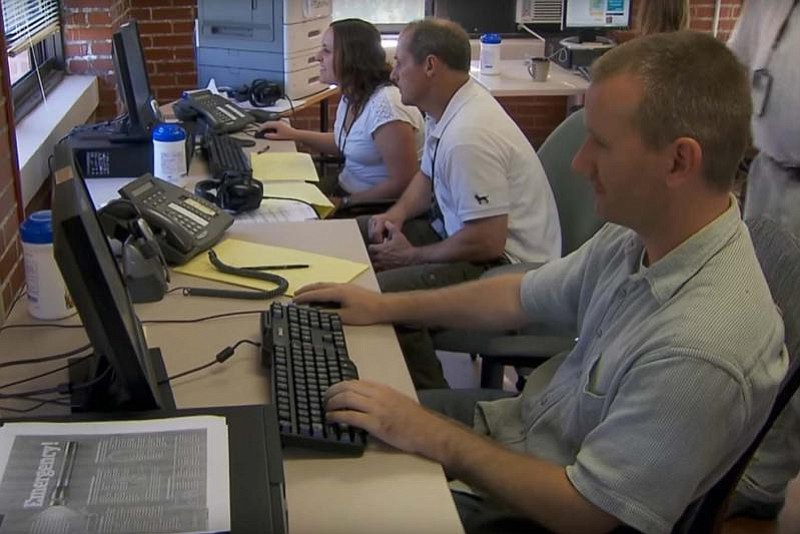 The Department of Veterans Affairs National Call Center in Canandaigua, N.Y.,...