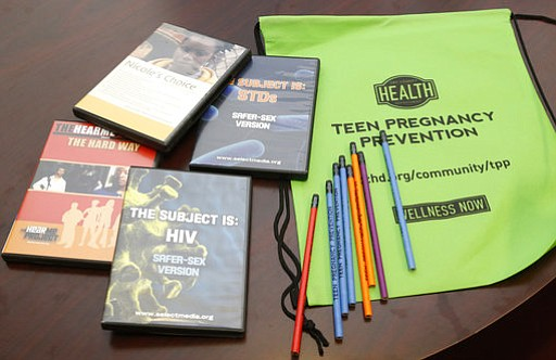 Some of the materials used by the Oklahoma City County Health Department in t...