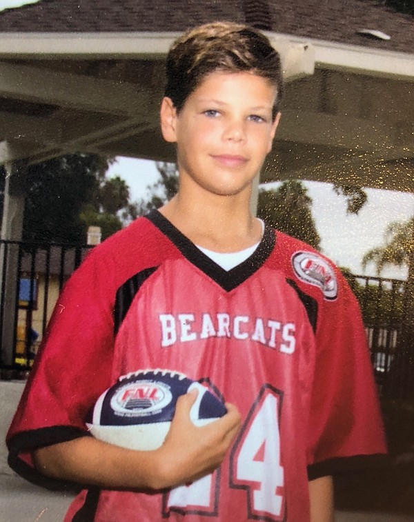 Keane Hayes, 13,  who was attacked by a shark in Encinita...