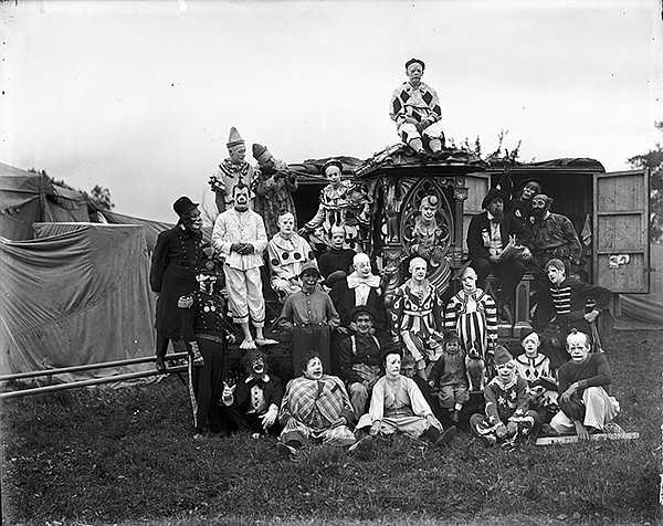 Group of clowns, early 20th century.