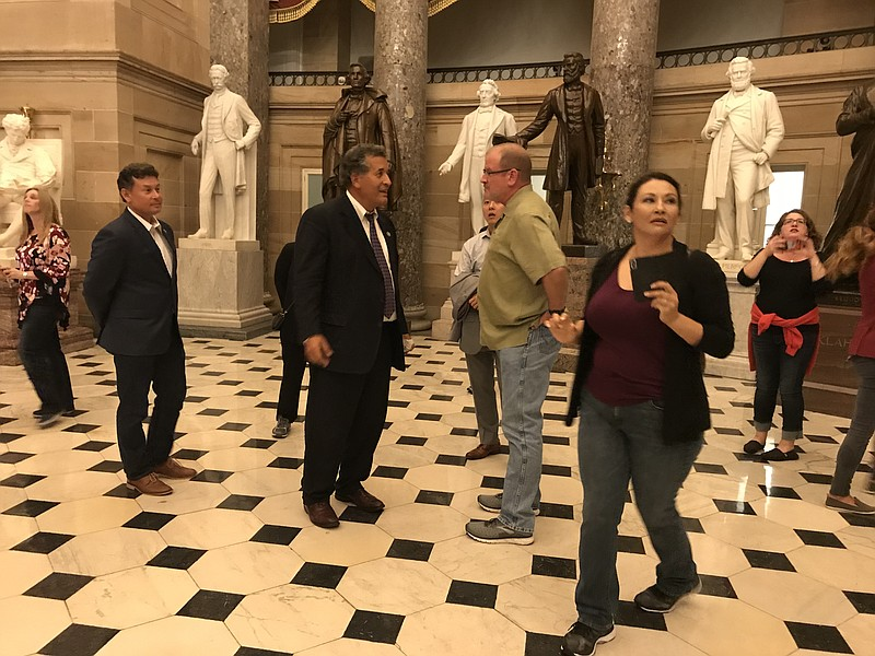 A delegation of San Diego and Baja California leaders tour the Capitol, Oct. ...
