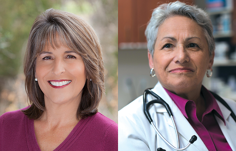 Campaign photos of San Diego City Councilwoman Lorie Zapf, left, and challeng...