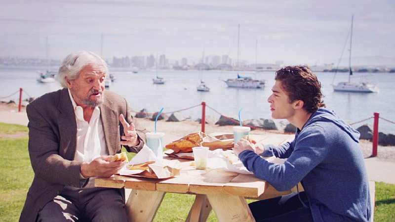 Hal Linden and Ryan Ochoa, who star in