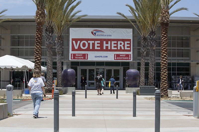 The San Diego County Registrar of Voters Office in Kearny Mesa, June 4, 2018.