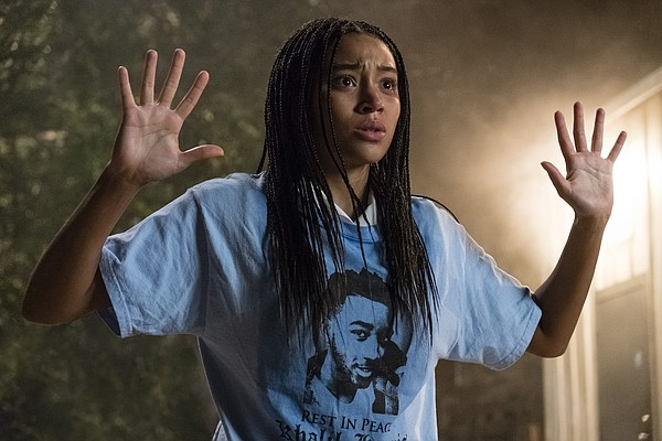 Amandla Stenberg plays Starr in the film adaptation of An...