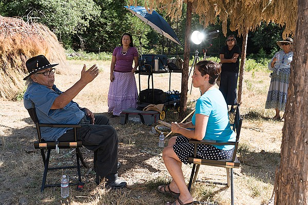 Interview with Elder, Preston Arrow-weed (left) of the Fo...
